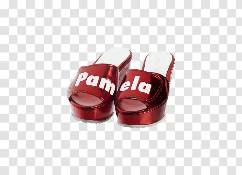 Slipper Flip-flops Shoe - Red - Design Transparent PNG