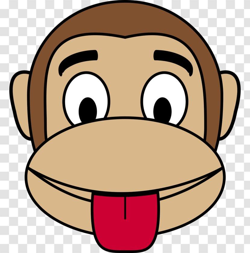 Monkey Face Clip Art Snout Transparent Png