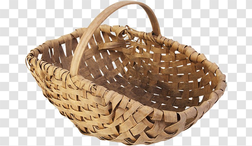 Basket Wicker Canasto Clip Art - Bamboo Pick Material Free To Pull The Image Transparent PNG