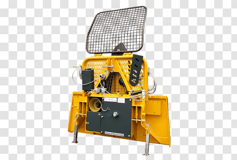Winch Tractor Machine Forestry Wood - Woodchipper Transparent PNG