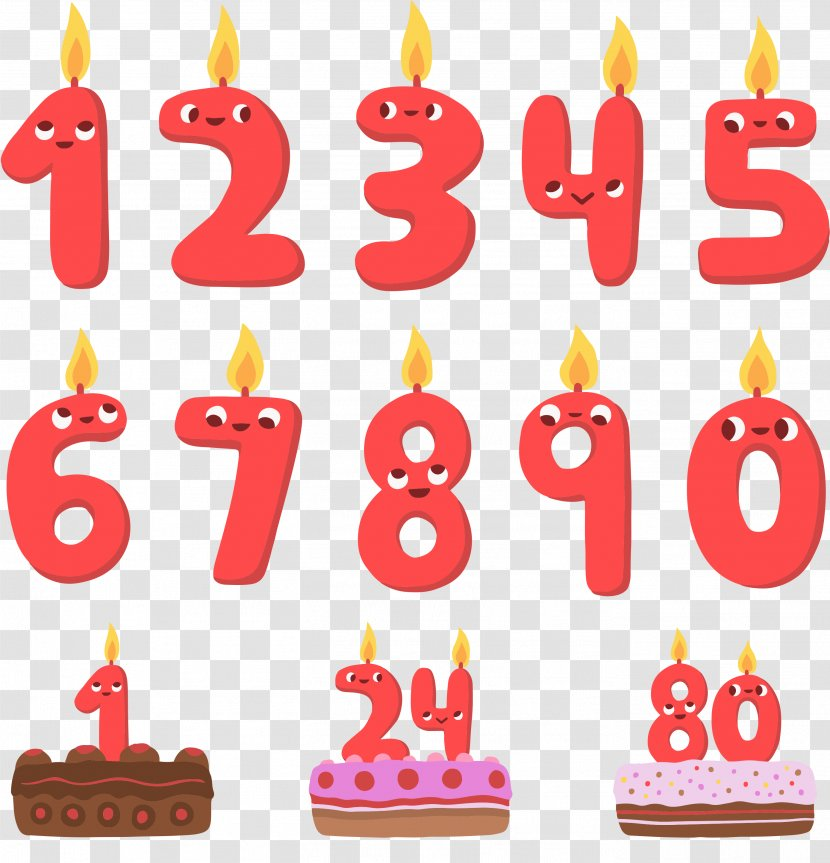 Birthday Cake Clip Art Cartoon Vector Graphics Candle Fancy Numbers Transparent Png