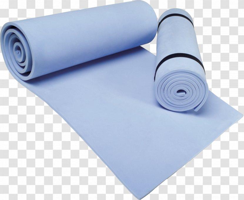 Yoga Mat Pilates Physical Exercise Carpet Blue Transparent Png