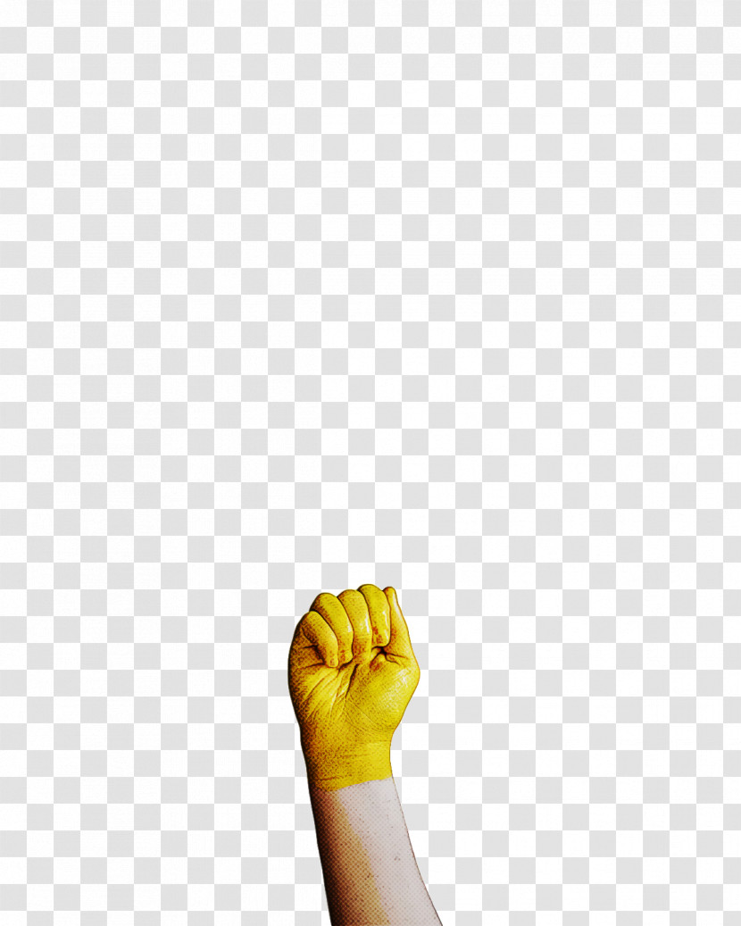 Joint Yellow Glove Meter Font Transparent PNG