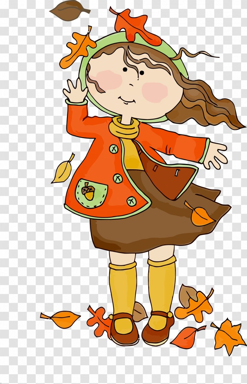 Fall Leaf Autumn Leaves Happy Cartoon Transparent Png