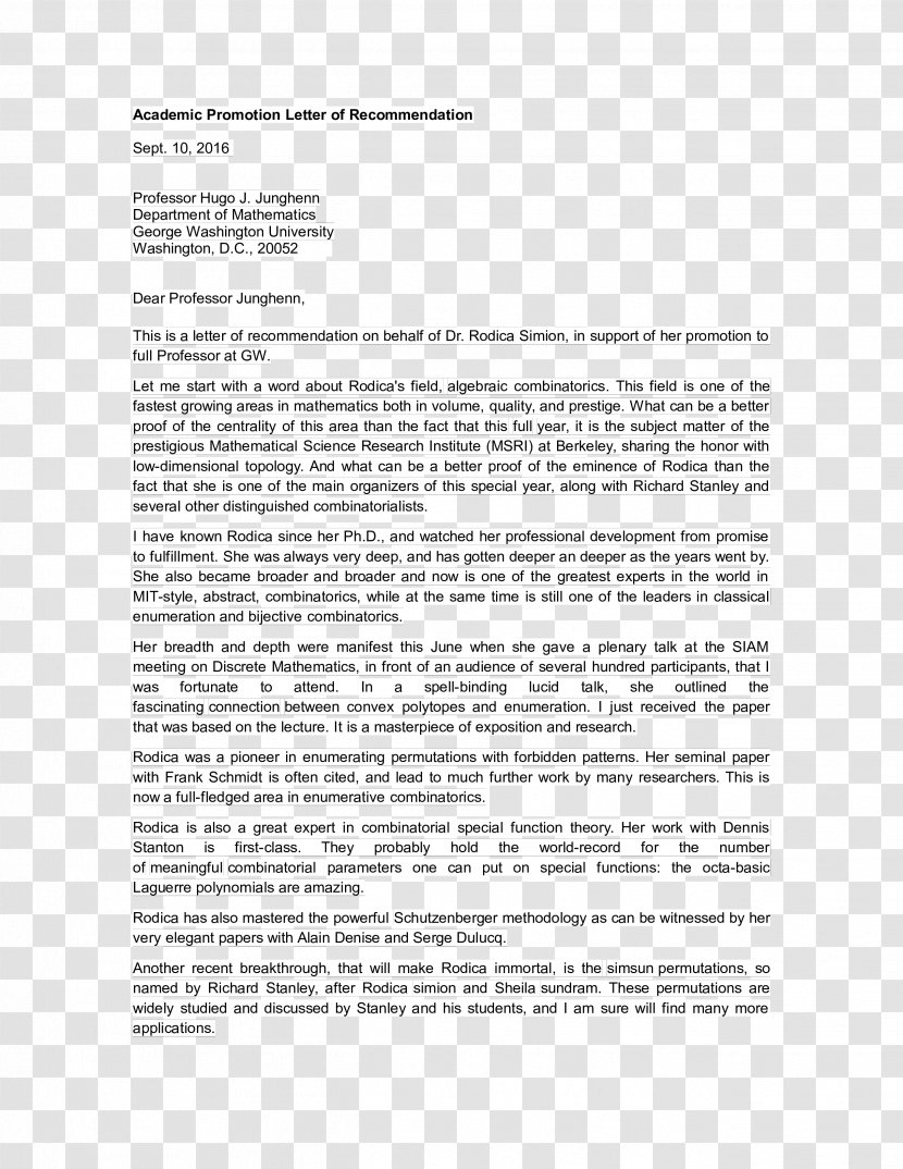 Letter Of Recommendation For A Promotion from img1.pnghut.com