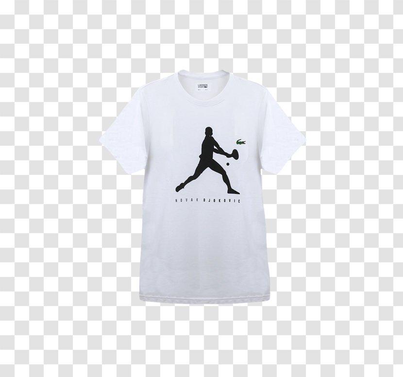 T Shirt Clothing Sleeve Lacoste Font White Novak Djokovic Transparent Png