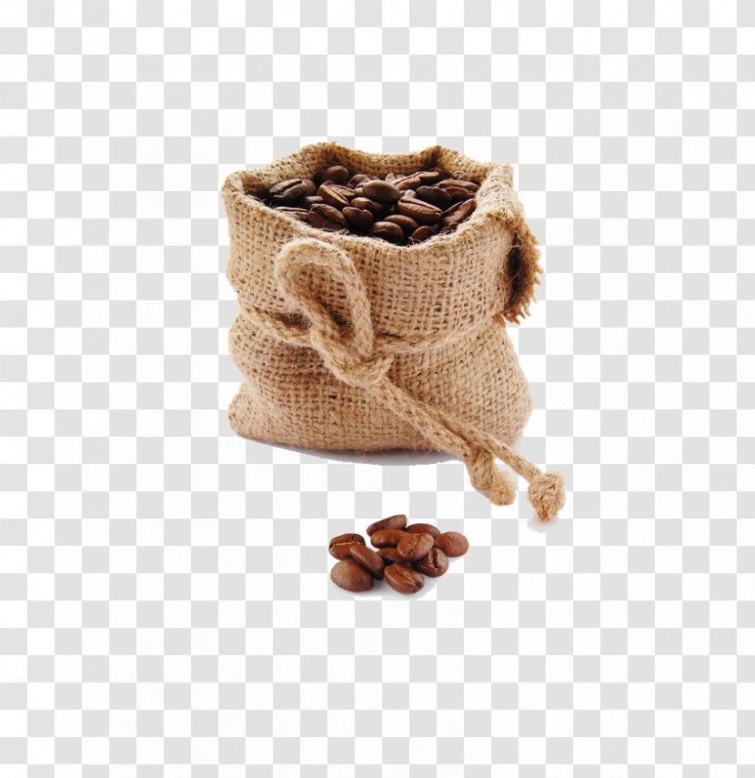 Espresso Coffeemaker Latte Moka Pot - Burr Mill - Bag Of Coffee Beans Transparent PNG