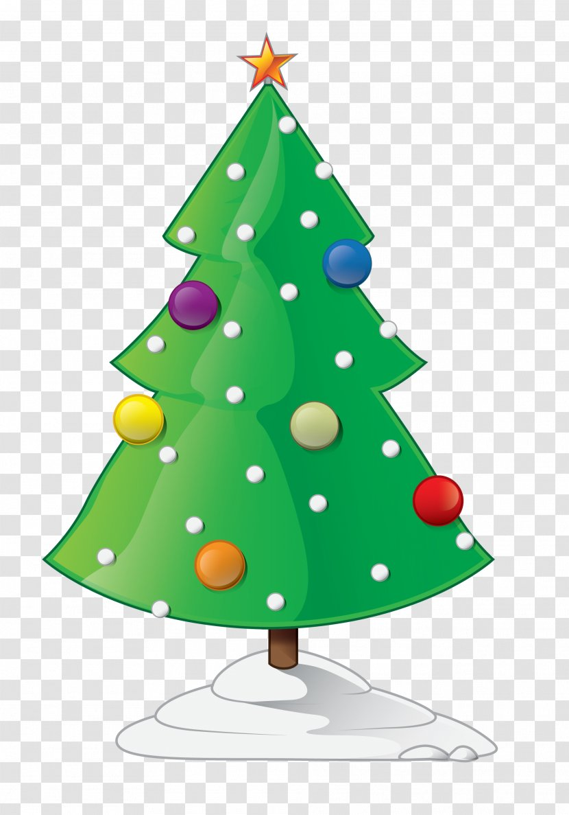 Christmas Tree Animation Cartoon Clip Art - Lights - Pictures Of Trees Transparent PNG