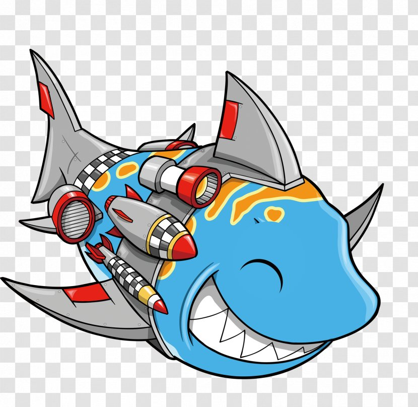 Shark Cartoon Illustration Great White Beautiful Exquisite Cute Fish Transparent Png