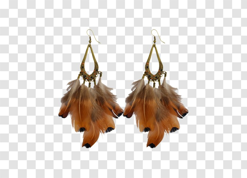 Earring Jewellery Coat Clothing Accessories - Feather Transparent PNG