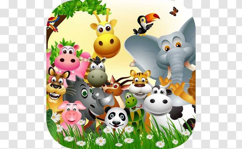 Baby Jungle Animals Mural - Child Transparent PNG