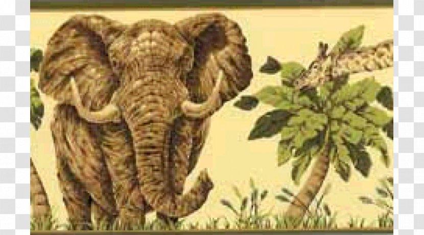 Indian Elephant African York Wallcoverings Inc Wallpaper - Fauna - Animals Jungle Transparent PNG