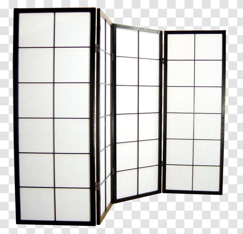 Folding Screen Japanese Shōji Furniture Table - Room Divider Transparent PNG