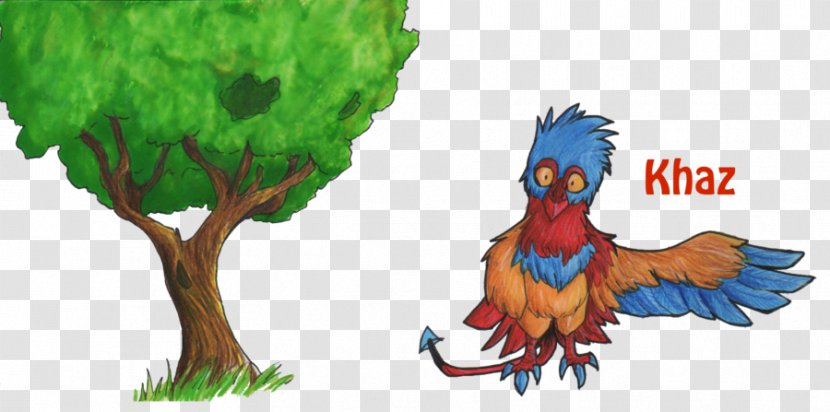 Rooster Illustration Fauna Cartoon Feather - Tree With Birds Flying Away Drawing Transparent PNG