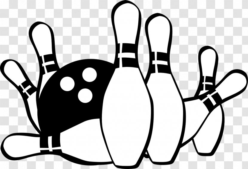 Bowling Pin Ball Clip Art - Monochrome Photography Transparent PNG
