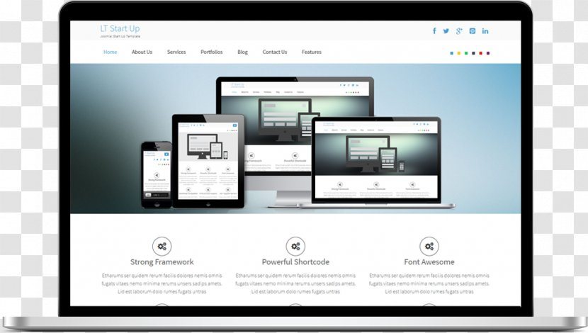 Responsive Web Design Template System Joomla Free Software Computer Program Single Page Transparent Png