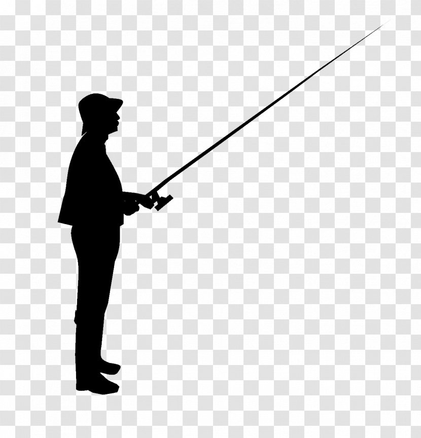 Silhouette Fishing Rods Clip Art Shadow Transparent Png