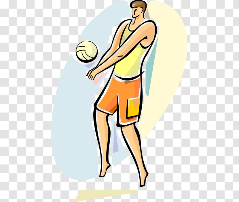 Clip Art Volleyball Player Illustration Cartoon Playing Sports Summer Sale Heat Transparent Png