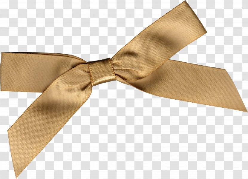 Gold Ribbon Gift Clip Art - Information - Ribbons Transparent PNG