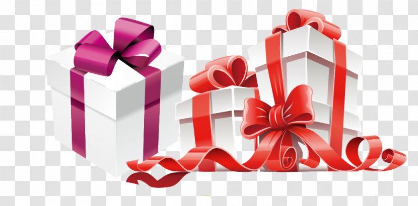 Gift Card Box Christmas Heart Holiday Vector Material Transparent Png