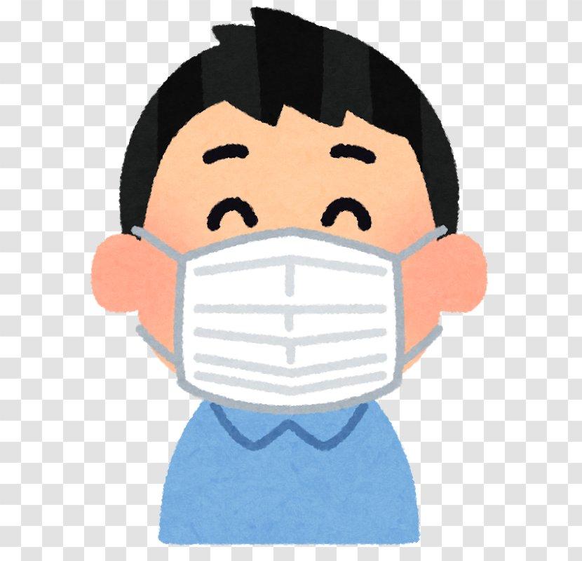Surgical Mask Respirator Medicine Influenza Surgery - Sneeze - Cartoon Mascara Transparent PNG