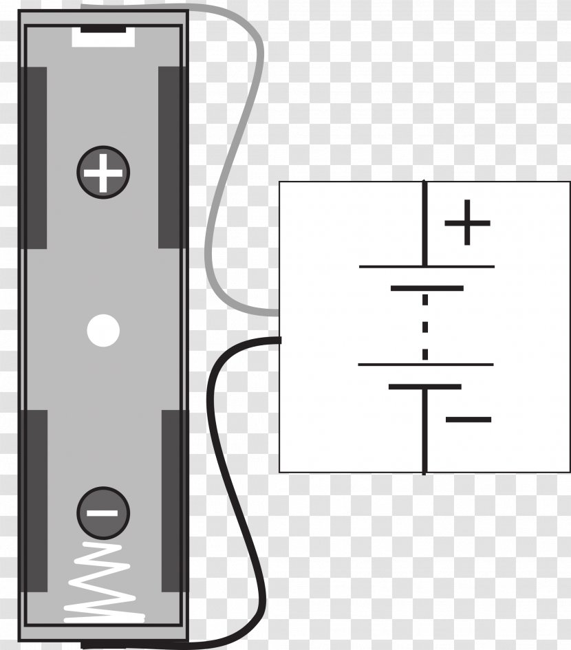 Electronic Symbol Battery Holder Wiring Diagram Circuit - Area -  Electronics Transparent PNGPNGHUT