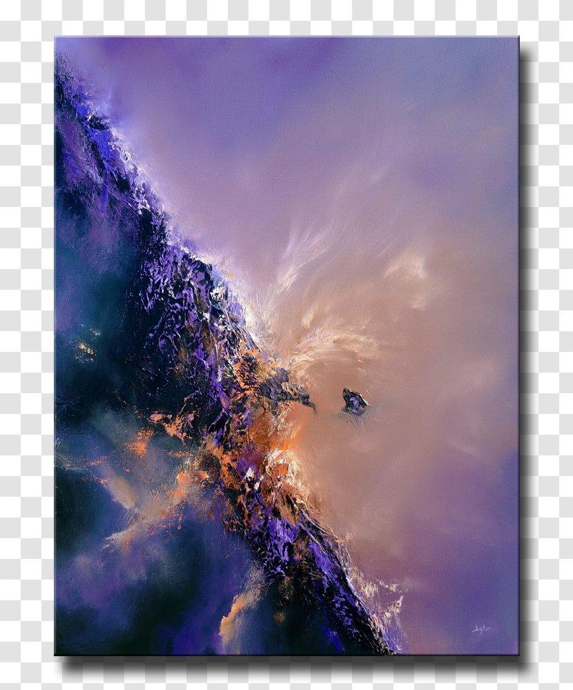 Saatchi Art Oil Painting Canvas - Violet Transparent PNG