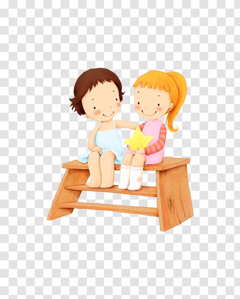 Cartoon Child Wallpaper Table Cute Villain Sit Stool Transparent Png