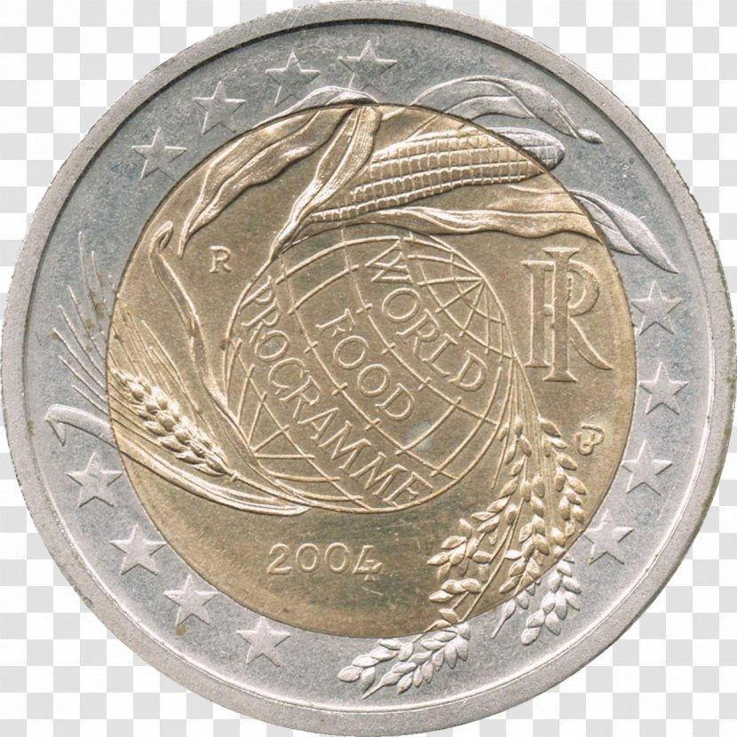 2 Euro Commemorative Coins World Food Programme Medal Coin Commemoration Transparent Png