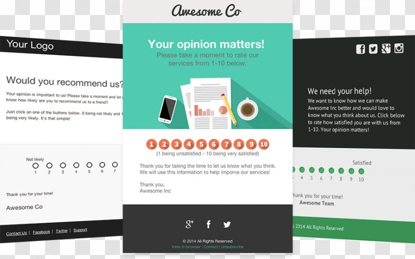 Template Email Survey Methodology Responsive Web Design Customer Satisfaction The Main Figure Transparent Png