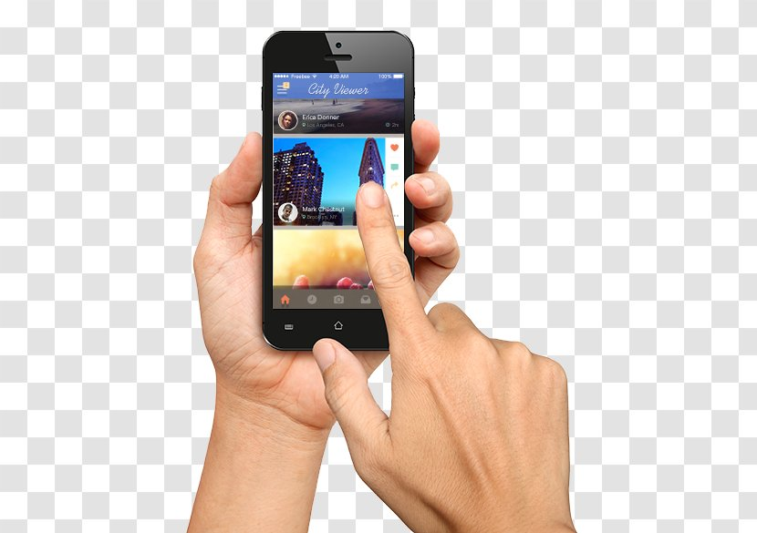 Smartphone Iphone Mobile App Development Banking Electronic Device Hand Holding A Cell Phone Transparent Png