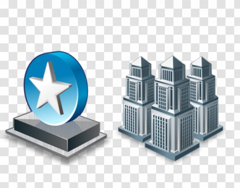 Company ICO Business Building Icon - Service - City Landmarks Transparent PNG