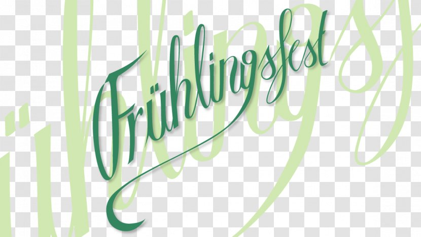 Logo Frühlingsfest Lettering Text - Calligraphy - Corporate New Flyer Transparent PNG