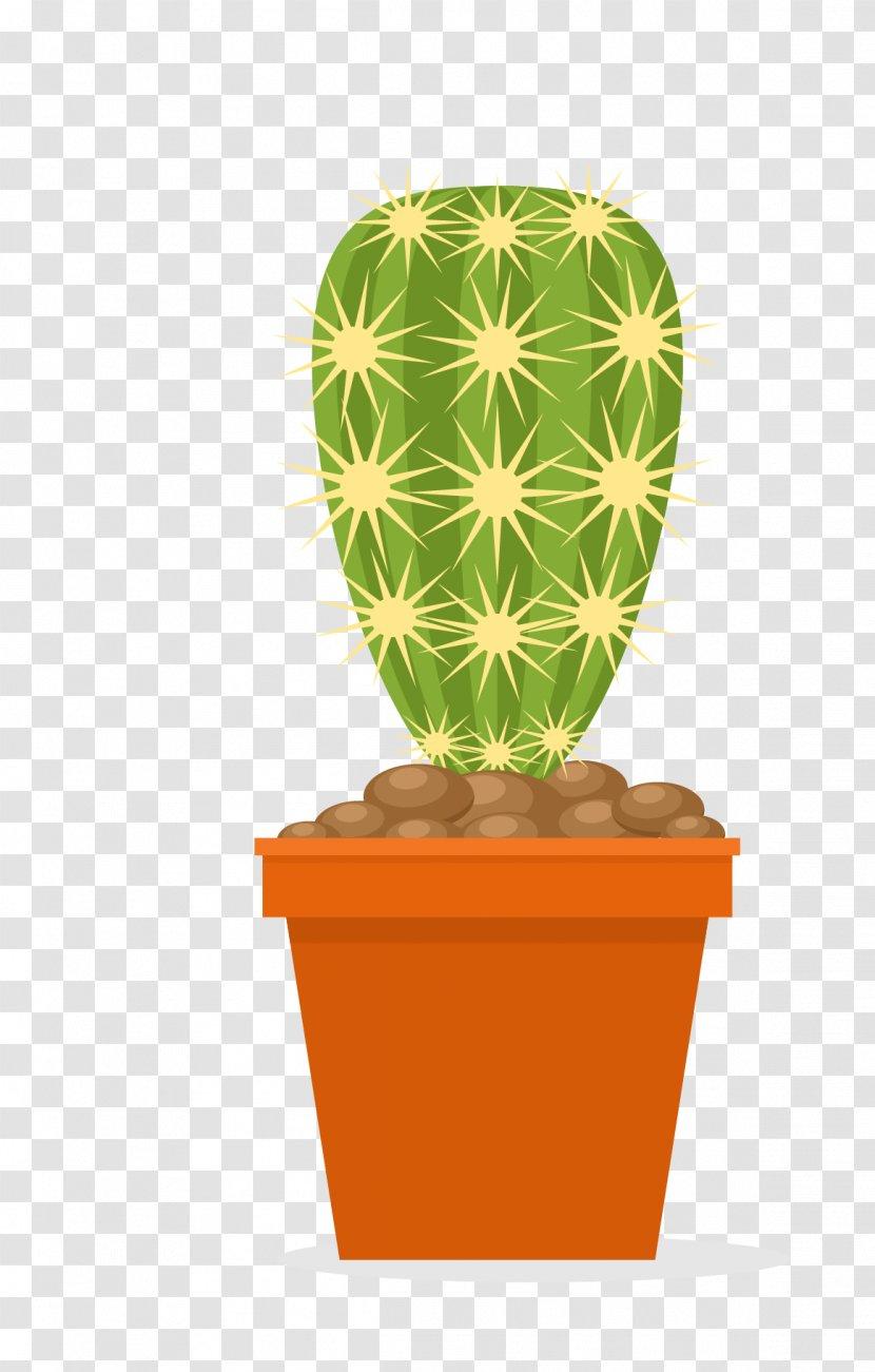 Cactaceae Flowerpot Euclidean Vector Plant Cactus Cartoon Pots Transparent Png