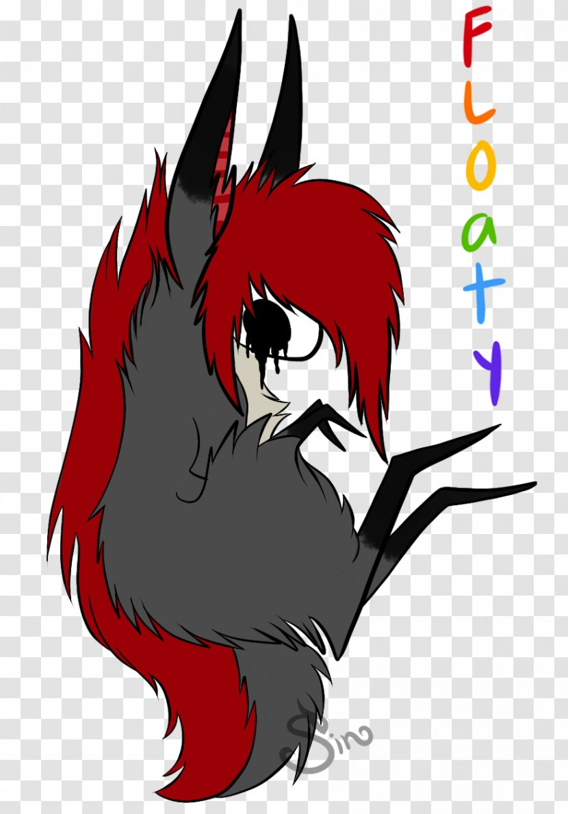Demon Black Hair Mammal Cartoon - Flower Transparent PNG
