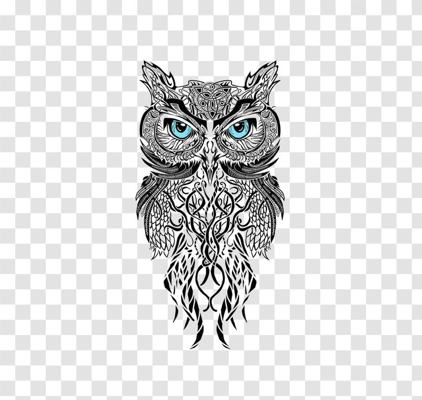 Owl Man's Ruin Tattoo & Piercing Black-and-gray Scleral Tattooing - Bird Of Prey Transparent PNG