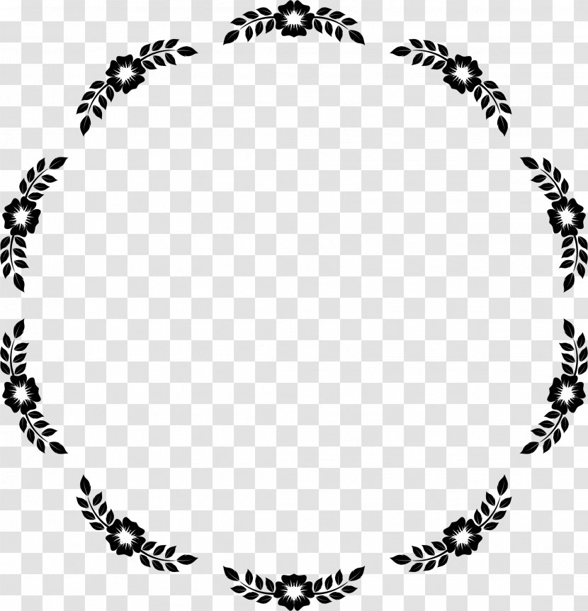 Free Orders Frames - Flowers Border Frames Black And White , Free  Transparent Clipart - ClipartKey