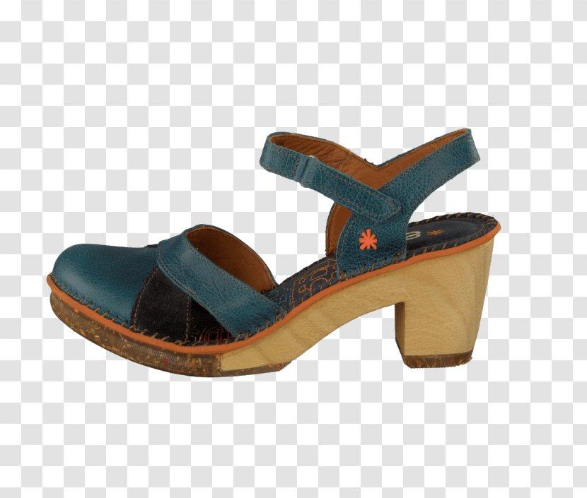Slide Sandal Shoe Turquoise - Footwear Transparent PNG
