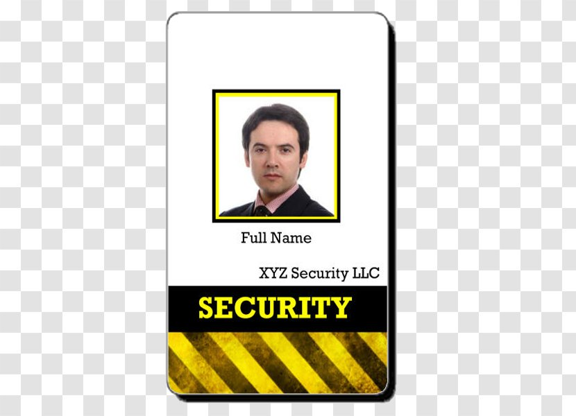 Badge Template Security Guard Identity Document Police Id Card Transparent Png