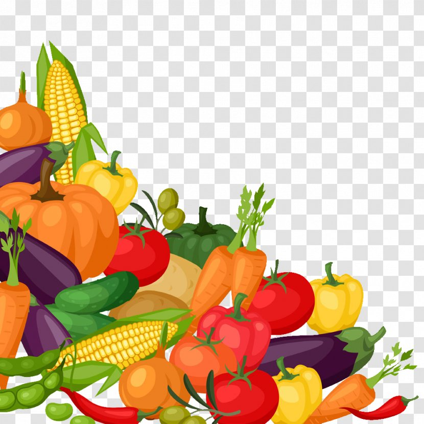 Organic Food Vegetable Tomato Illustration - Habanero Chili - Cartoon Variety Of Delicious Vegetables Transparent PNG