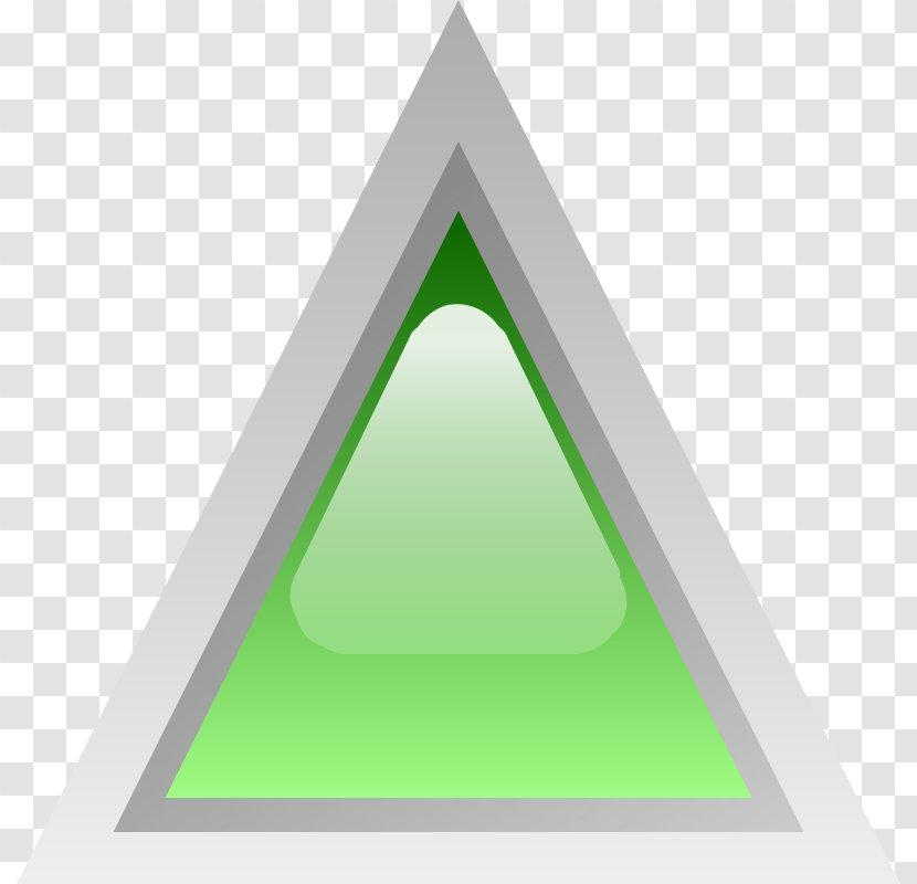 Triangle Green Clip Art - Color Transparent PNG