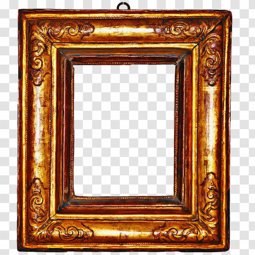Wood Frame - Rectangle - Metal Antique Transparent PNG