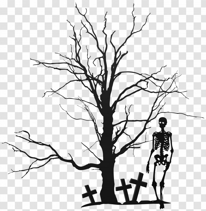 The Halloween Tree Clip Art Silhouette Trees Cliparts Transparent Png