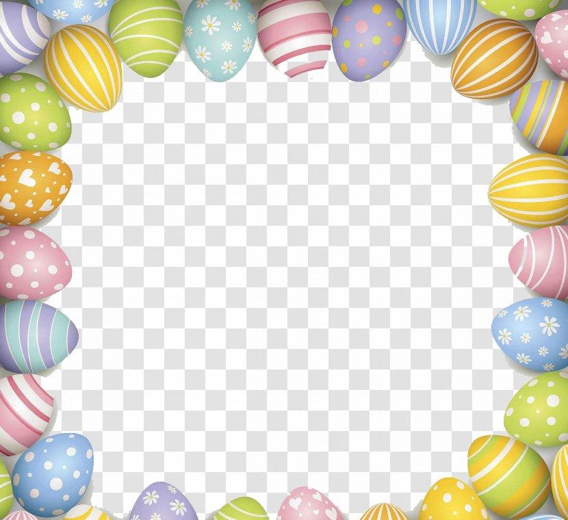 Easter Bunny Red Egg Illustration - Gorgeous Border Pattern Transparent PNG
