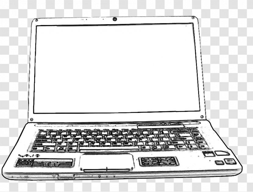 Sketch Drawing Laptop Computer Image Information How To Draw A Keyboard Transparent Png