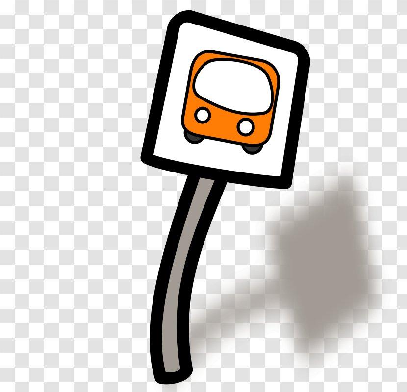 Bus Stop Sign School Traffic Laws Clip Art - Cartoon Transparent PNG