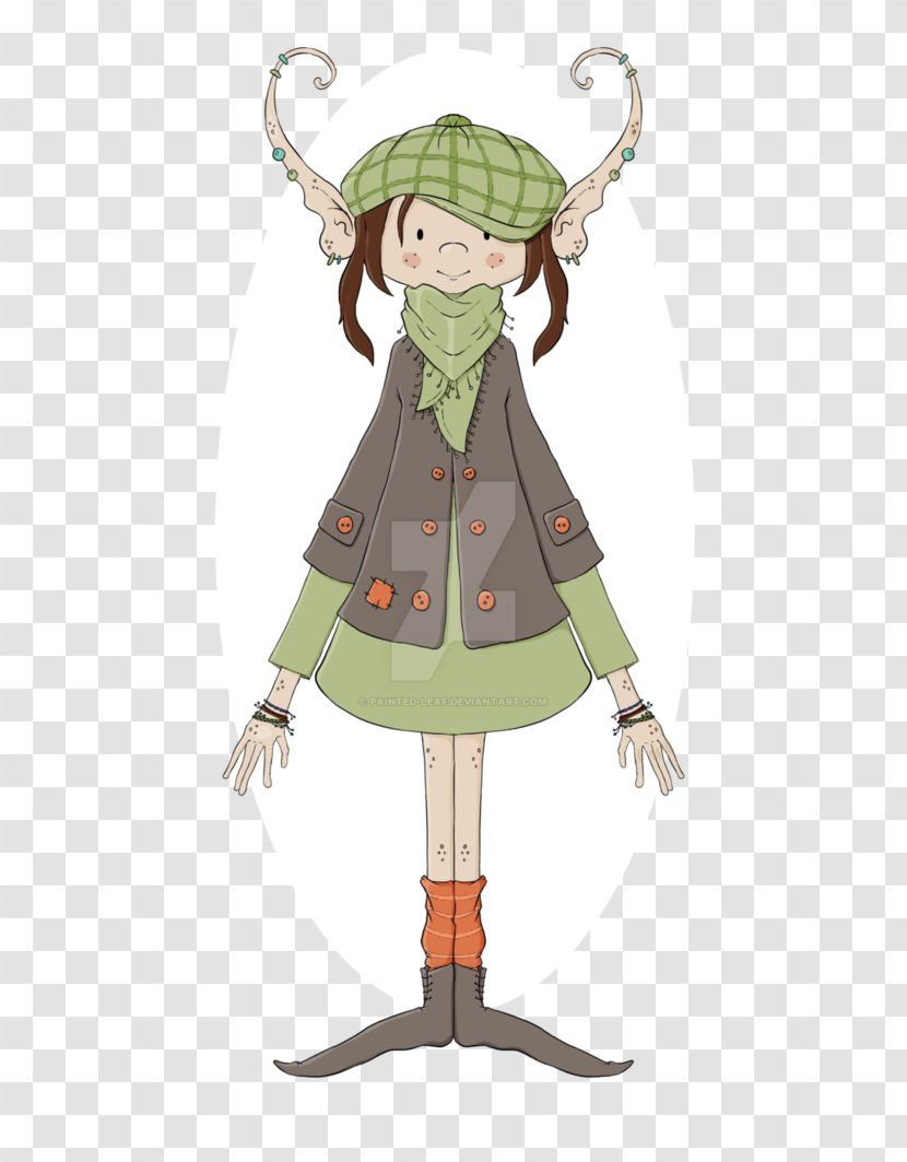 Costume Design Cartoon Character Painted Leafs Transparent Png