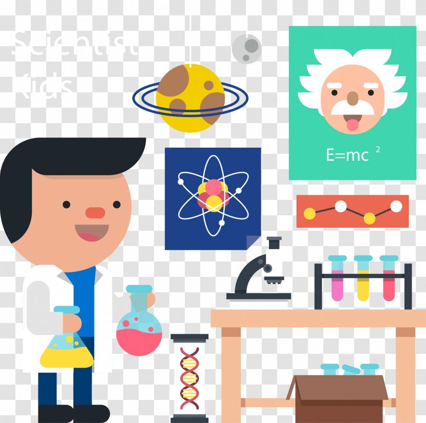cartoon chemist clip art scientist vector hand painted transparent png pnghut