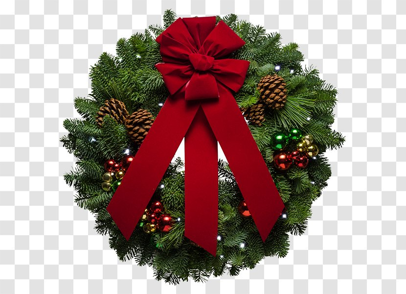Wreath Christmas Tree And Holiday Season Ornament Free Download Transparent Png
