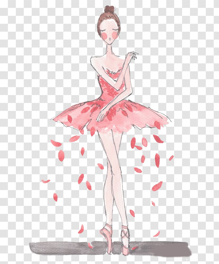 Ballet Dancer Drawing Painting Watercolor Time Dancing Transparent Png